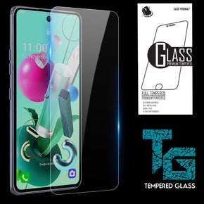 LG K92 5G Clear Case Friendly Tempered Glass