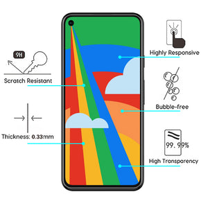 Google Pixel 4a 5G Clear Case Friendly Tempered Glass