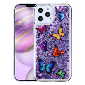 Apple iPhone 12 Pro Max (6.7) Glitter Design Hybrid Case Cover