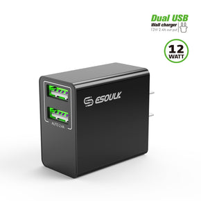 Universal Dual USB Home Wall Charger 2.4A