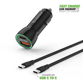 Type C Fast Charger Car Kit Combo 18Watts