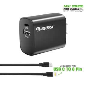 Type C Home Fast Charger Kit 18Watts