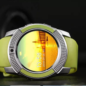 Round Smart Watch Limegreen