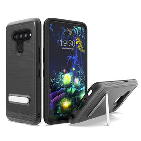 LG K51 Brushed Hybrid Kickstand Case Cover