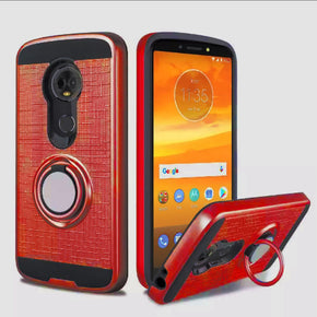 Motorola G6 Play Hybrid Ring Case Cover