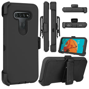 LG K51 Heavy Duty Clip Case Cover
