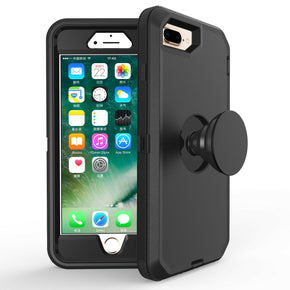 Apple iPhone 7/8 Plus Heavy Duty Case with Pop-Socket Stand
