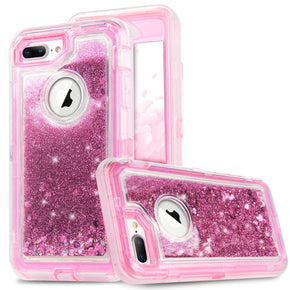 Apple iPhone 8/7/6 Plus Hybrid Glitter Case Cover