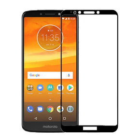 Motorola E5 Plus Full Black Tempered Glass