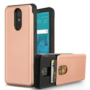 LG Stylo 4 Hybrid Card Holder Case Cover