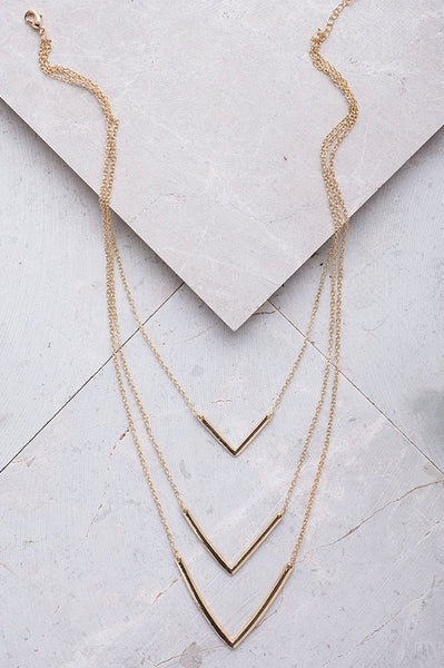 LAYERED POINT NECKLACE