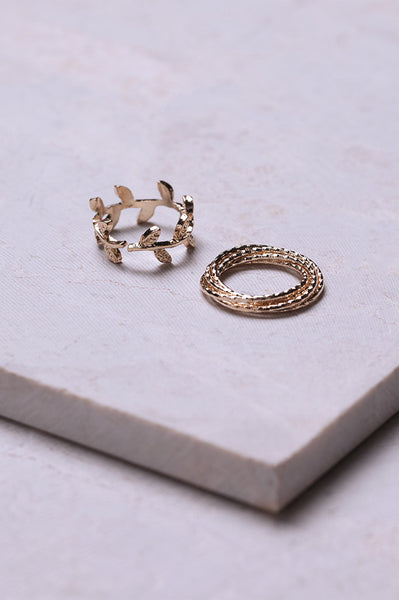 2 FOR 1 GOLD RING SET