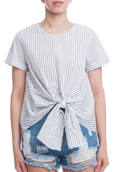 SUMMER STRIPES TIE TOP