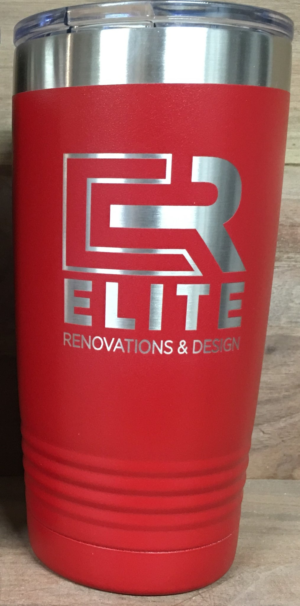 Full Case (24) 20oz/ Red Tumblers w/ Single Side Engraving (Elite Renovations)