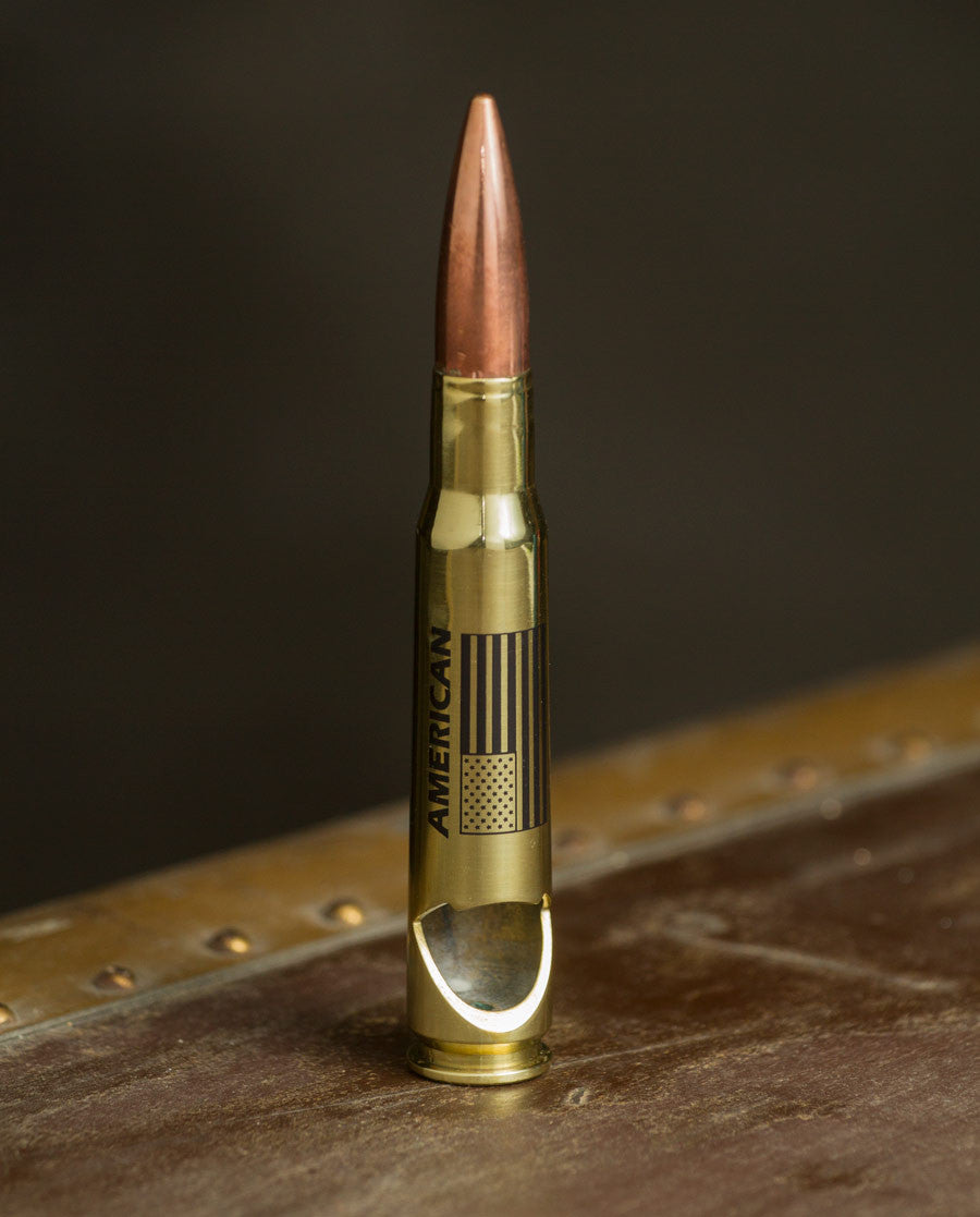 50 Caliber Bottle Opener - America Pride