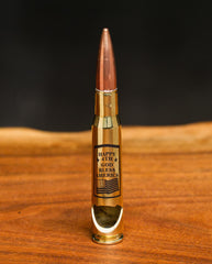 50 Caliber Bottle Openers - Happy 4th: God Bless America (Brass)