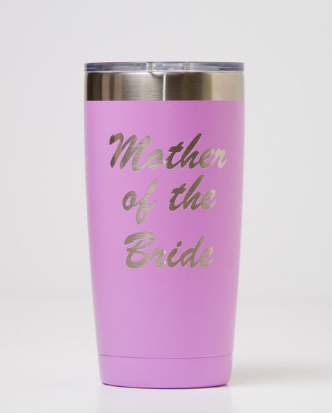 Mother of The Bride Tumbler (Light Purple)