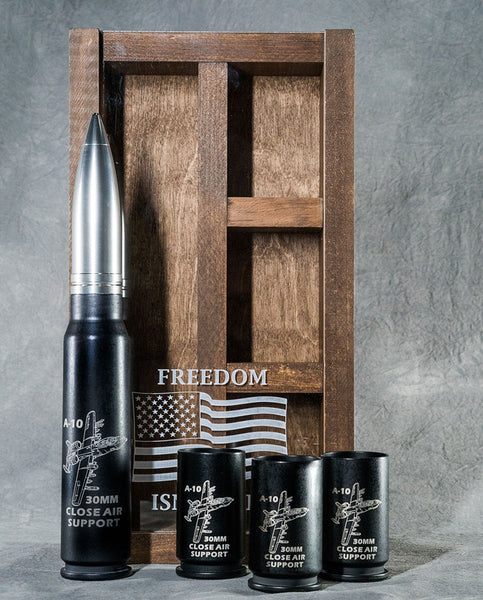 30MM A-10 Warthog, Wall Mounted, Real Bullet Cannon Round Bar Set (A-10)