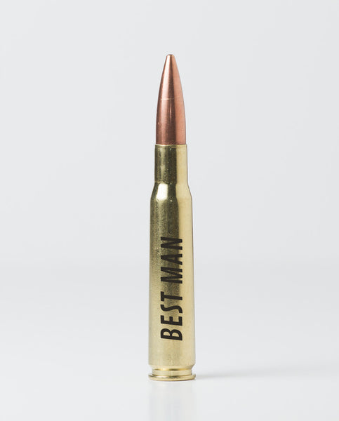 50 Caliber Bottle Openers - Groomsman / Best Man (Brass)