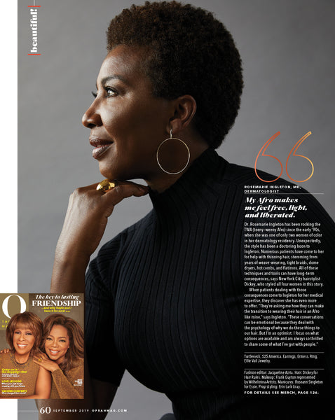 525'S Ribbed Mock Neck Signature Stretch Top in O Magazine September 2019