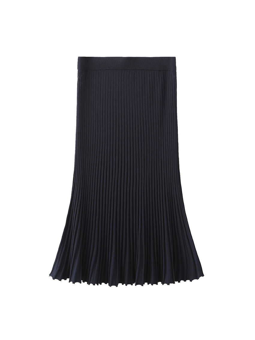 Accordion Pleat Maxi Skirt