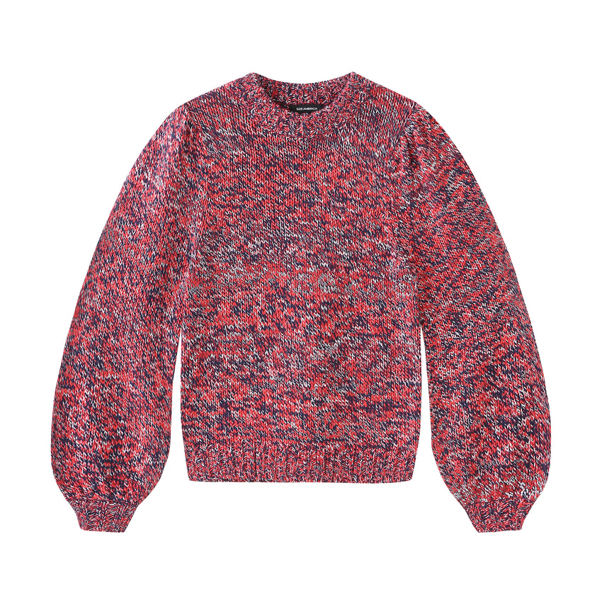 Pre-Twist Bishop Sleeve Crewneck Sweater