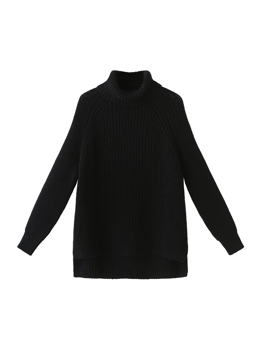 Cotton Shaker Turtleneck Sweater
