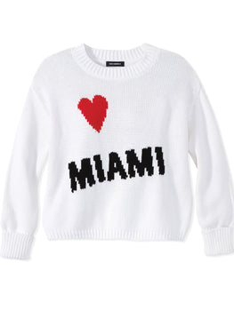 Heart Miami Cotton Shaker Stitch Sweater