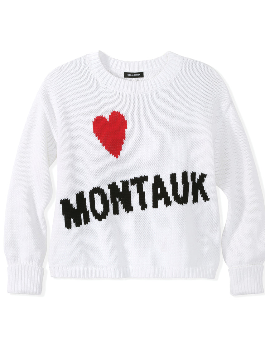 Heart Montauk Cotton Shaker Stitch Sweater