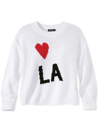 Heart LA Cotton Shaker Stitch Sweater