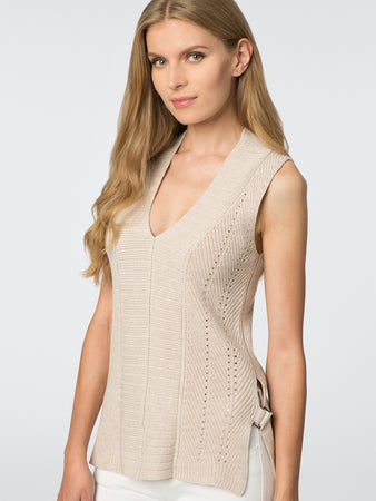 Buckle Side Cotton Vest