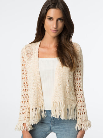 Fringe Short Cardigan