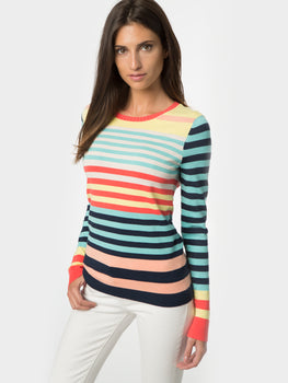 Rainbow Stripe Crewneck