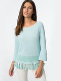 Tassel Fringe Cotton Shaker Sweater