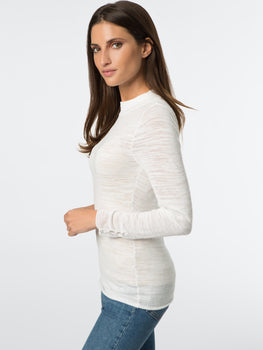Pearl Button Burnout Knit Top