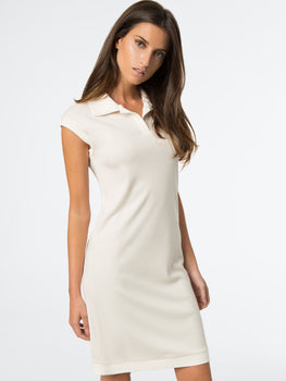 Cap Sleeve Polo Dress
