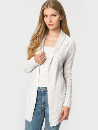 Cotton Crochet Duster Cardigan