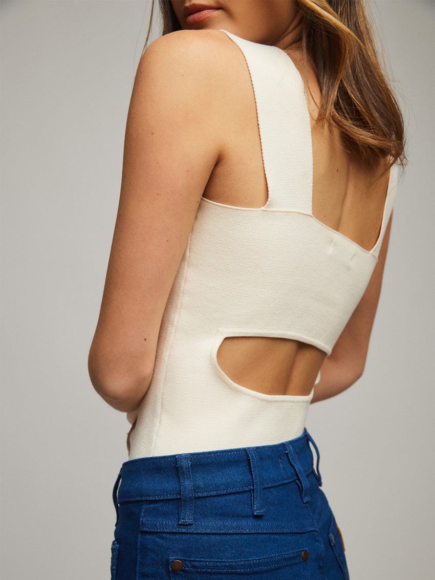 Open Back Square Neck Tank