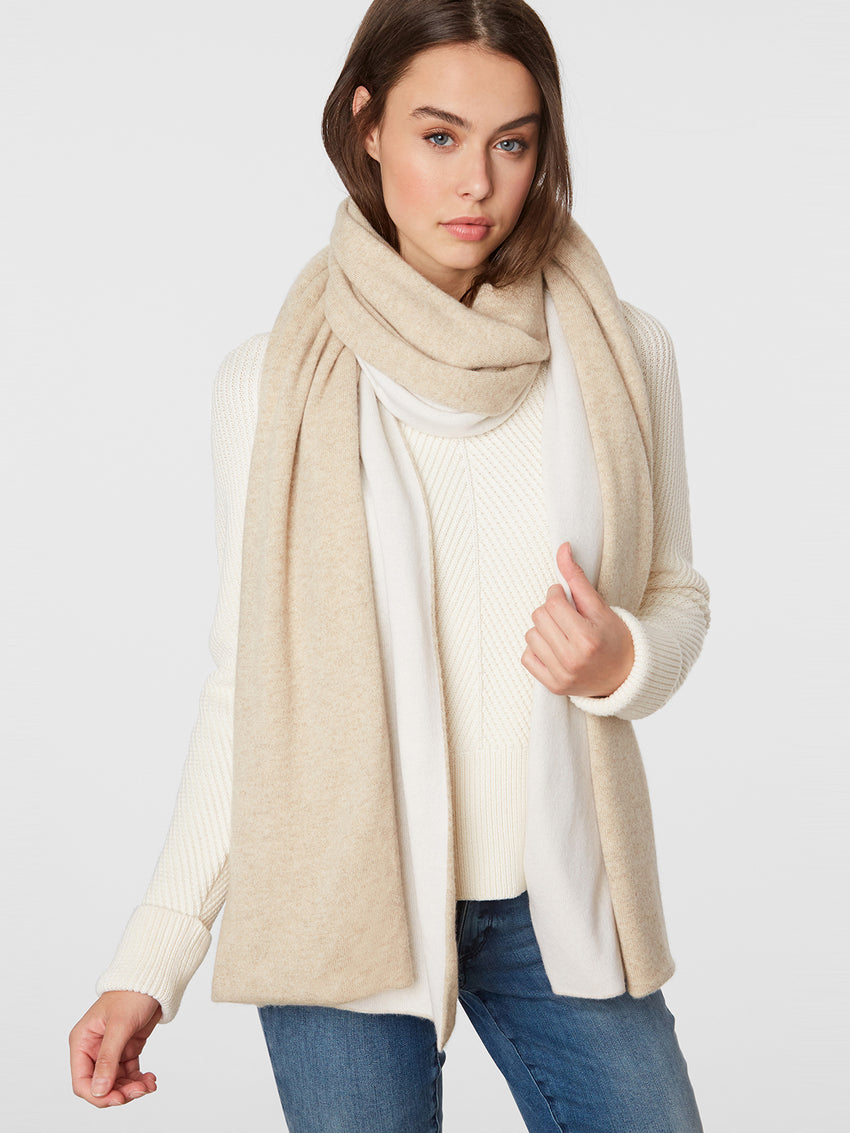 Cashmere Double Face Wrap Scarf
