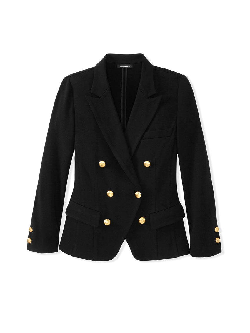 Double Knit Gold Button Blazer