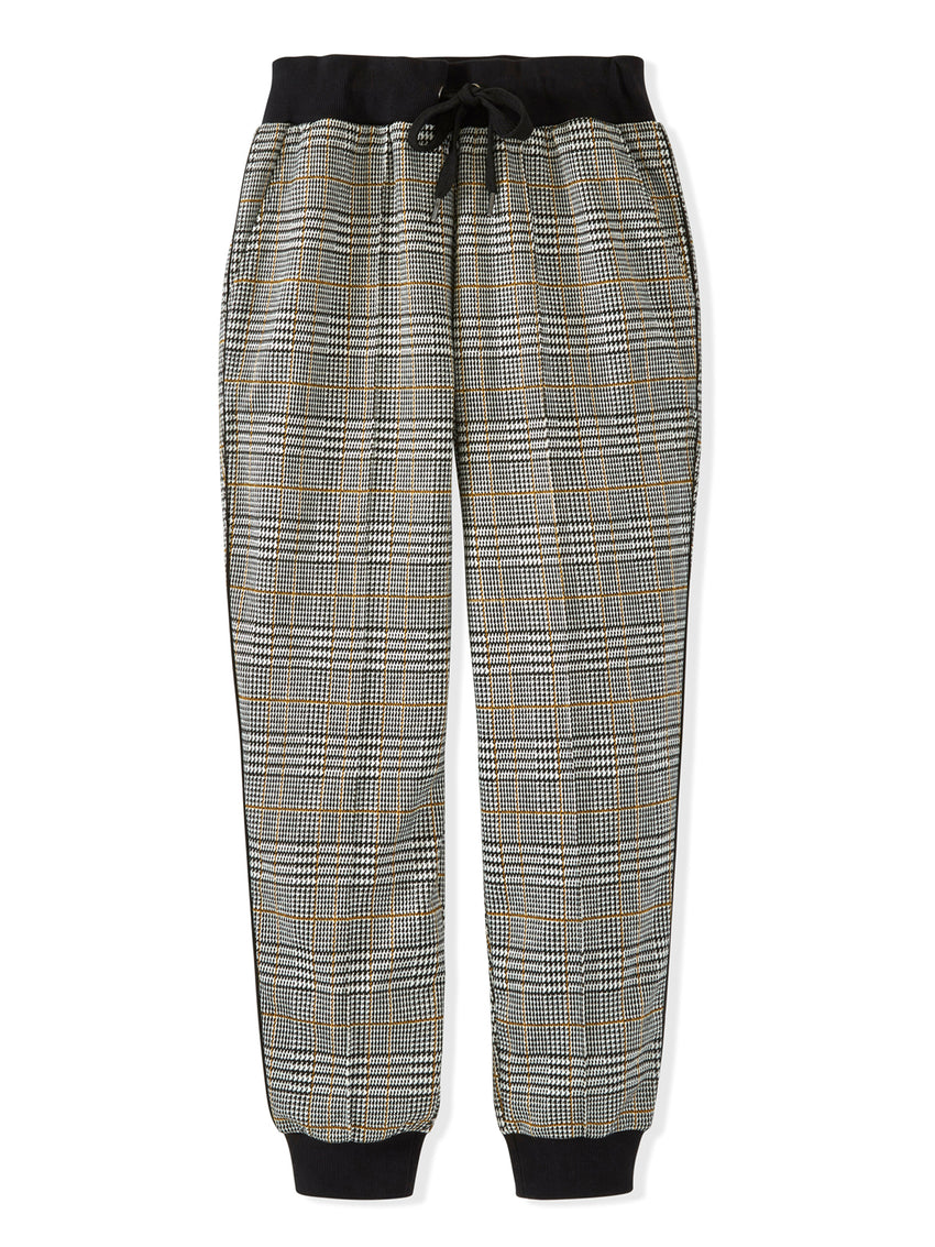 Glen Plaid Jogger Pants