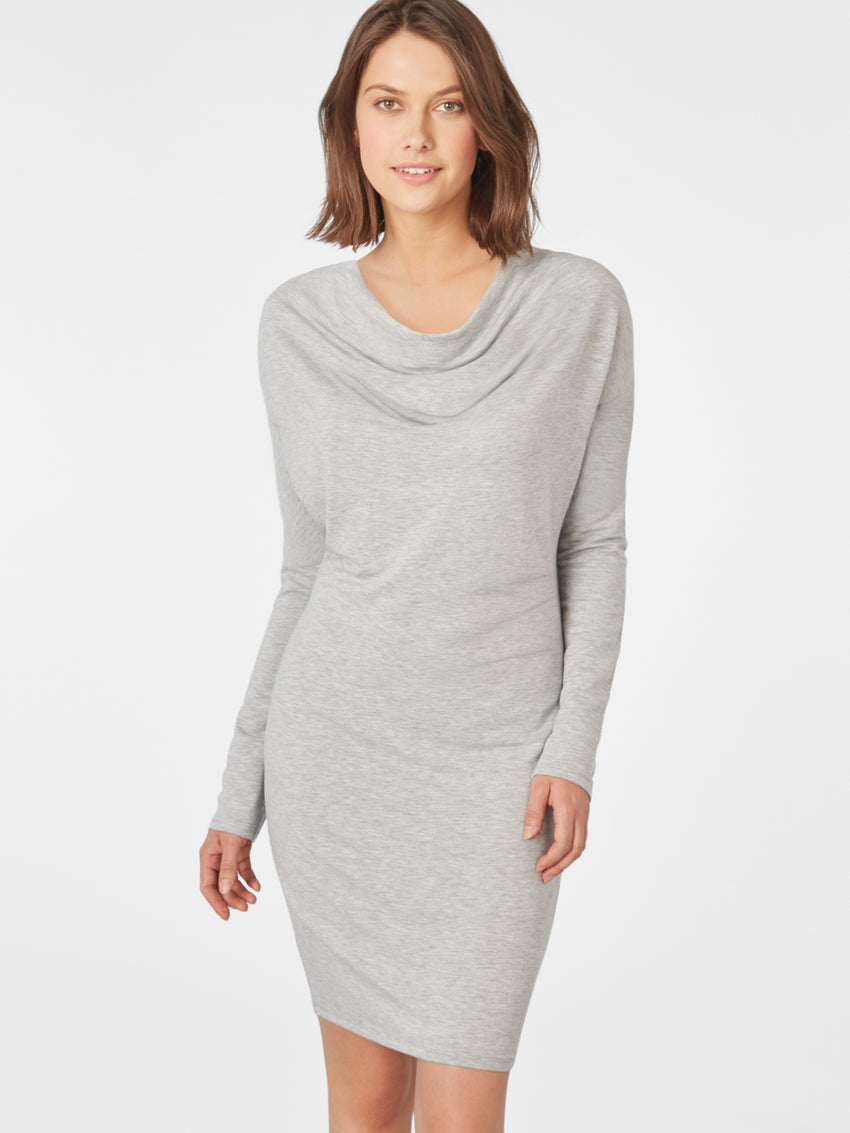 Micro French Terry Cowl Neck Dress