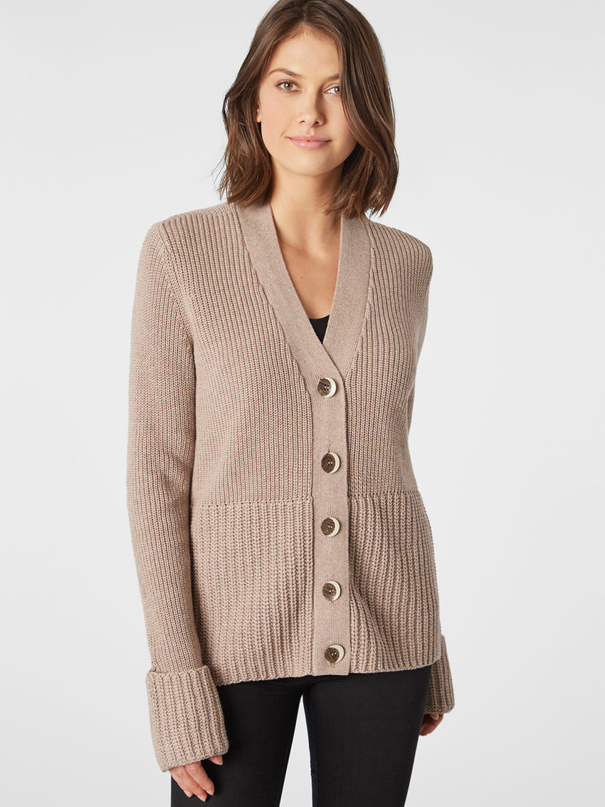 Cotton Shaker Multi Gauge Cardigan