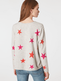 Cashmere V-Neck Star Sweater