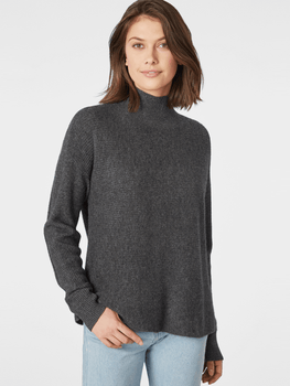 Cashmere Shaker Mock Neck Sweater