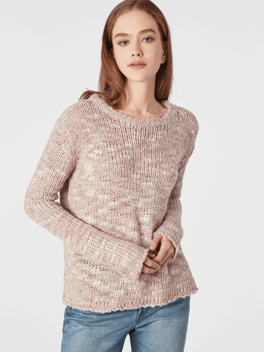 Lurex Slub Knit Crewneck Sweater
