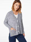 Cotton Elbow Patch Oversized Cardigan