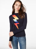 Lightning Bolt Rainbow Crewneck Sweater