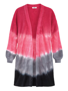 Tie Dye Ombre Long Sleeve Duster