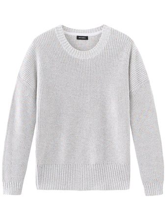 Lurex Crewneck Long Sleeve Sweater